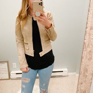 Mango Genuine Suede Leather Jacket